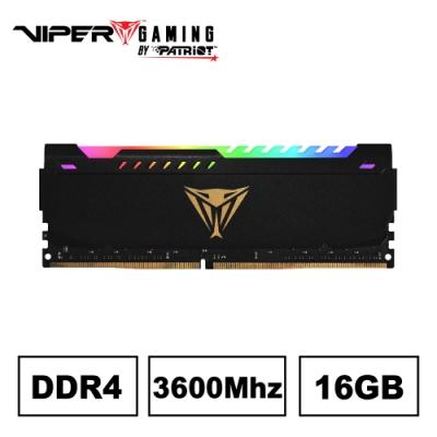 VIPER蟒龍 STEEL RGB DDR4 3600 16GB桌上型記憶體