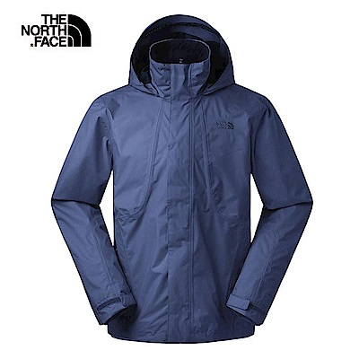 The North Face北面男款藍色防風防水衝鋒衣|3SPIH2G