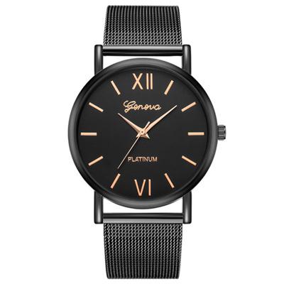 Geneva 日內瓦-時尚沉穩簡約實用米蘭帶手錶 (2色任選)