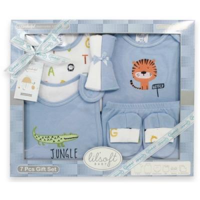 美國Elegant kids-藍色字母7件式彌月禮盒