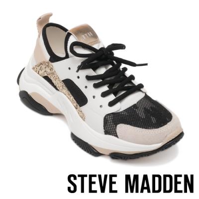 STEVE MADDEN-AJAX 炫色拼接復古老爹鞋-金色