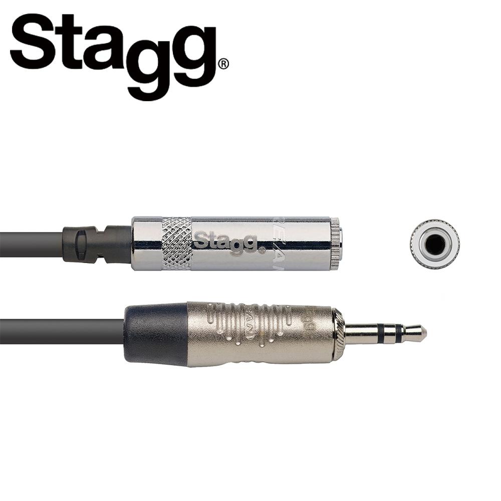 STAGG NAC2MPSMJSR 2M 3.5mm 耳機延長線