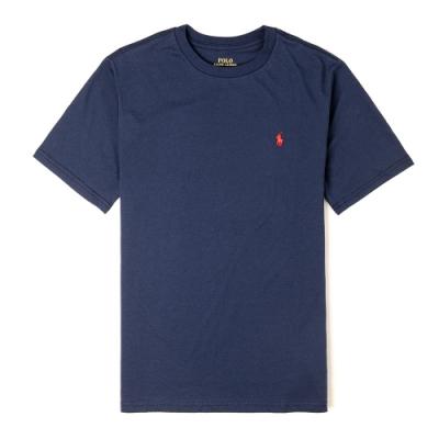 Polo Ralph Lauren 經典小馬圓領T恤(青年款)-深藍色