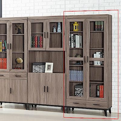 H&D 古橡木色下抽書櫥