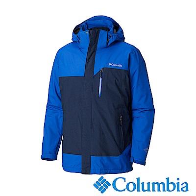 Columbia哥倫比亞 男款-Omni-Tech防水保暖兩件式羽絨外套-深藍