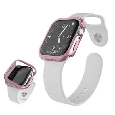 刀鋒Edge系列 Apple Watch Series 6/SE (44mm) 鋁合金雙料保護殼 保護邊框(玫瑰金)