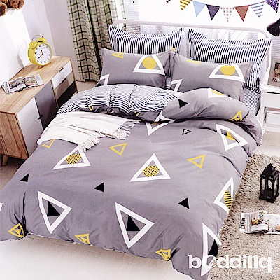 BEDDING-活性印染6尺雙人加大薄床包三件組-極簡生活