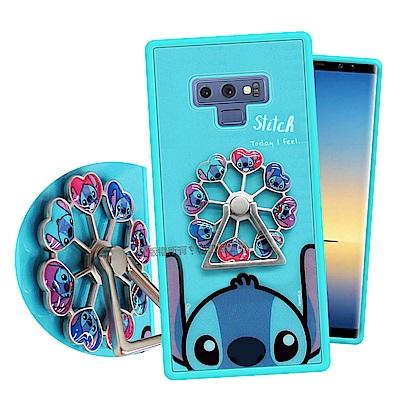 迪士尼授權 Samsung Galaxy Note9 摩天輪指環扣防滑支架手機殼(史迪奇)