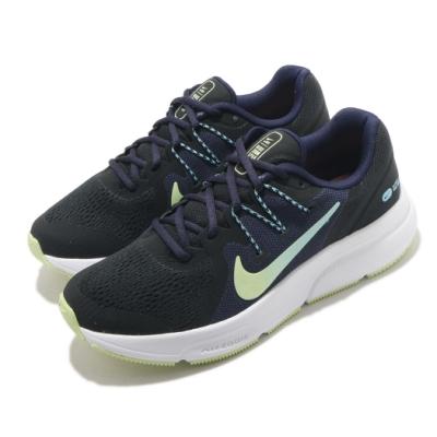 Nike 慢跑鞋 Zoom Span 3 運動 女鞋 氣墊 舒適 避震 輕量 路跑 健身 黑 綠 CQ9267013