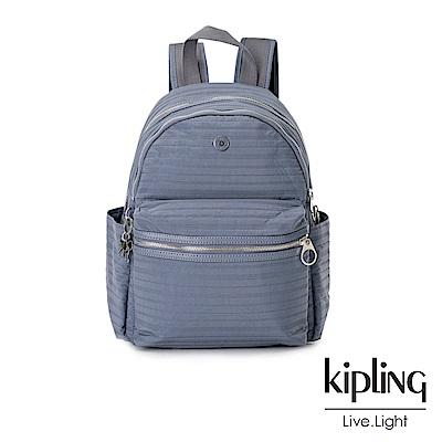 KiplingOL低調藍後背包