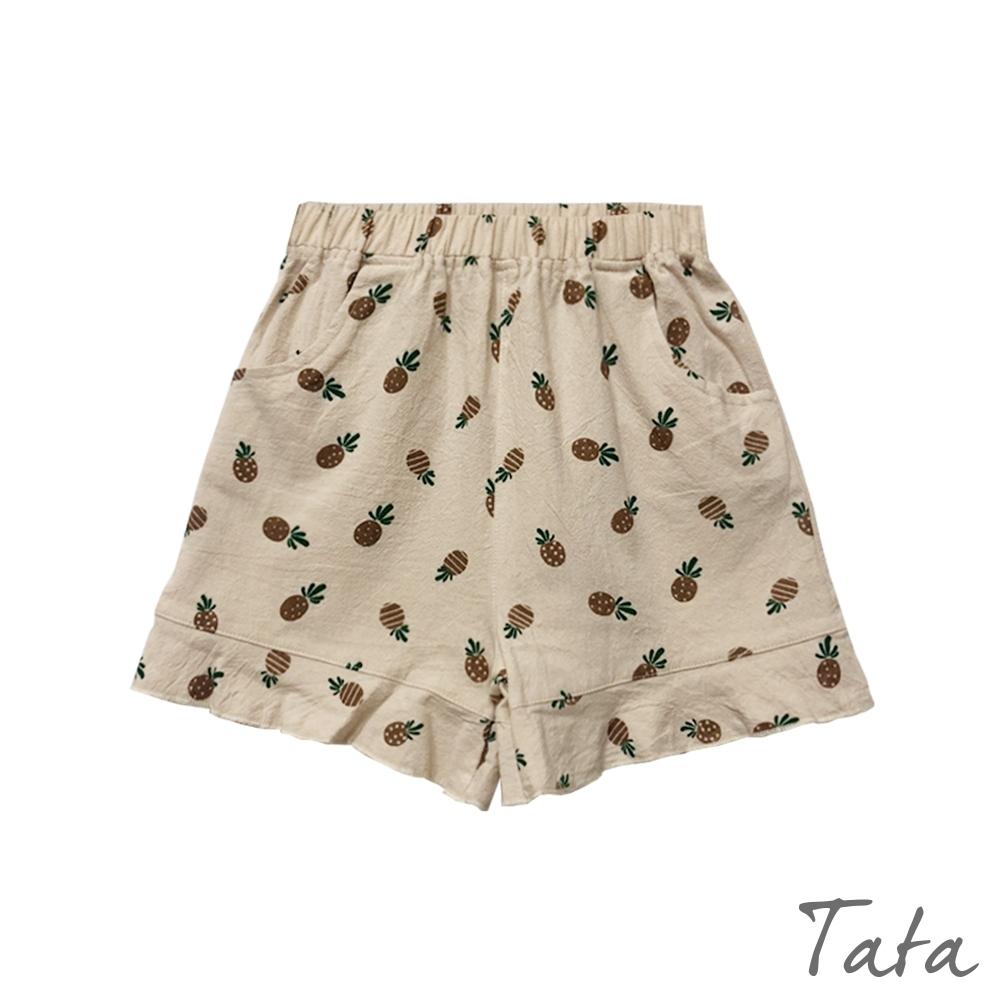 童裝 滿版鳳梨印花短褲 TATA KIDS