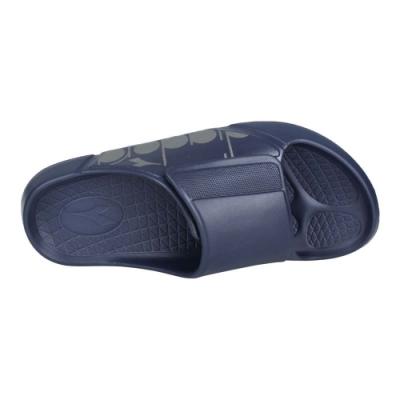 DIADORA 男MIT拖鞋-台灣製 魔鬼氈 海邊 海灘 戲水 游泳 沙灘 DA71220 丈青銀