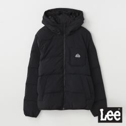 Lee 保暖連帽羽絨外套 RG 男款 黑色