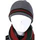 GUCCI 經典綠紅綠織帶反褶設計針織毛帽(灰色) product thumbnail 1