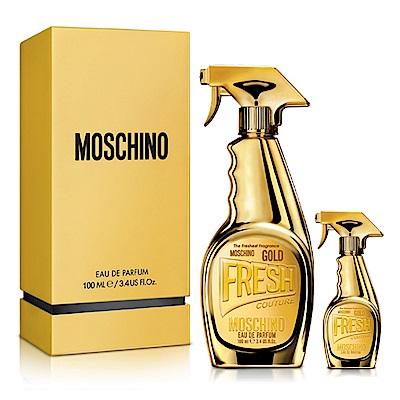 Moschino 亮金金女性淡香精100ml(贈)品牌小香水