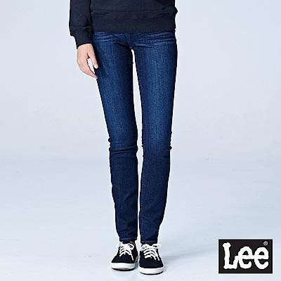 Lee 中腰緊身窄管牛仔褲/RG-深藍色洗水