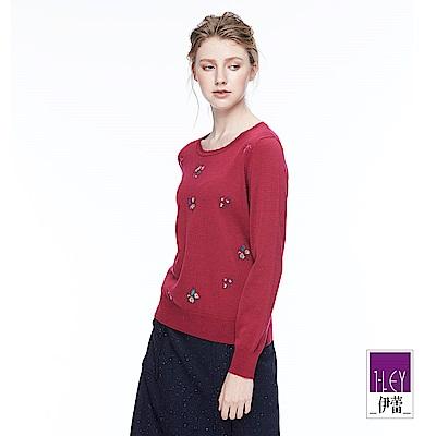 ILEY伊蕾 優雅羊毛針織上衣(紫)