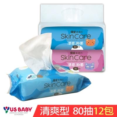 優生 清爽型柔濕巾(80抽12包)