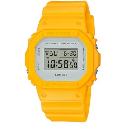 G-SHOCK 經典潮流簡單數位設計概念休閒錶(DW-5600CU-9)黃-42.8mm