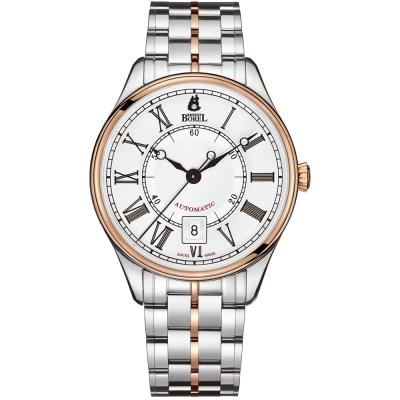 ERNEST BOREL 瑞士依波路錶 復古系列8180玫瑰金-白色 40.5mm