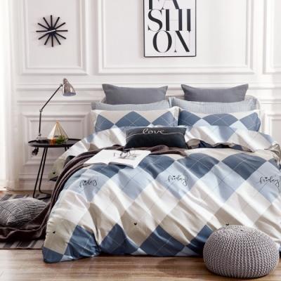 A-ONE 100%純棉-清新E系列-雙人床包/枕套組-香格里拉