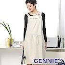 Gennies專櫃-吊帶式背心洋裝款電磁波防護衣(淺卡其/粉GQ41)