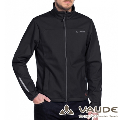 【德國 VAUDE】男款透氣防風彈性刷毛保暖休閒外套VA-06156黑