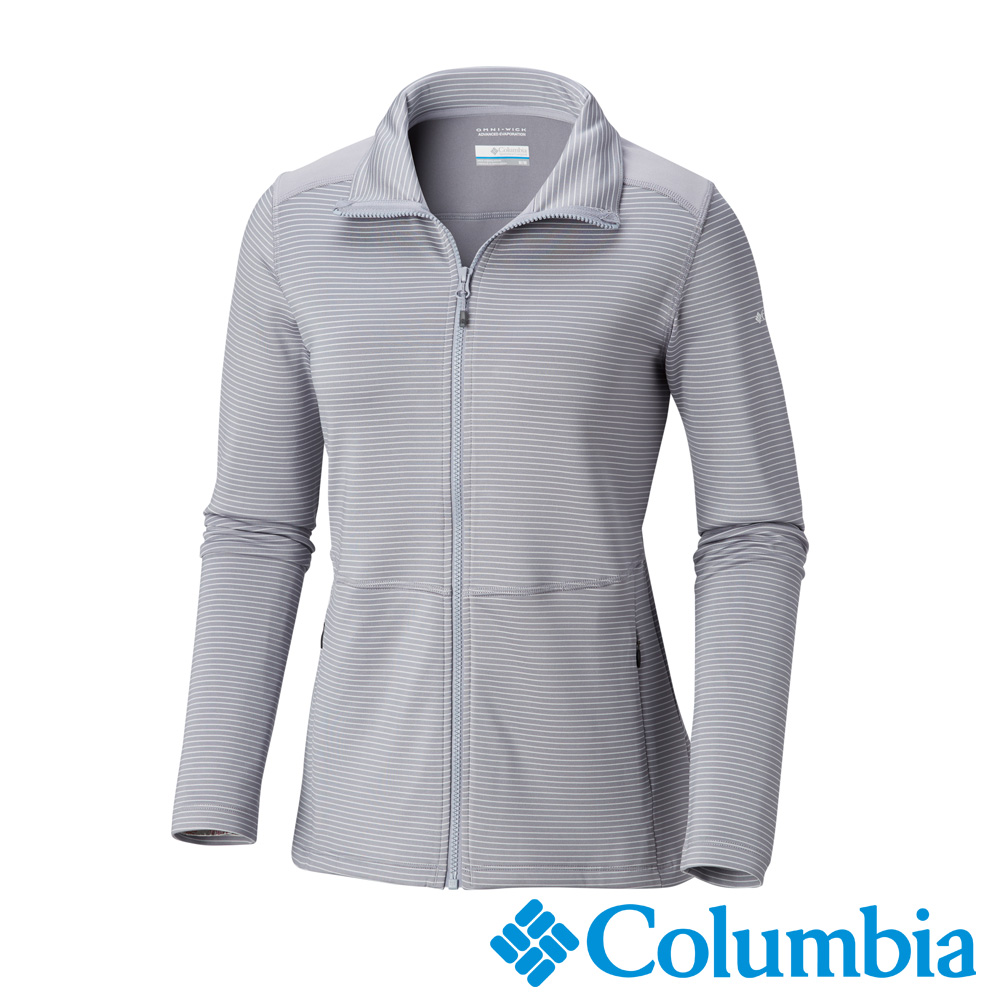 Columbia 哥倫比亞 女款- Omni-SHADE防曬50快排外套-灰藍
