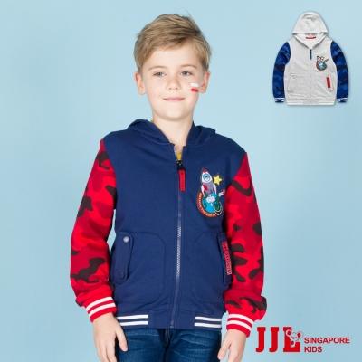 JJLKIDS 潮流迷彩拼接保暖連帽夾克外套(2色)