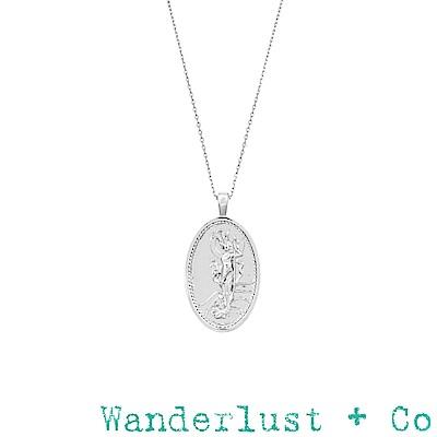 Wanderlust+Co 澳洲品牌 希臘海洋天空女神項鍊 銀色錢幣項鍊 Iris
