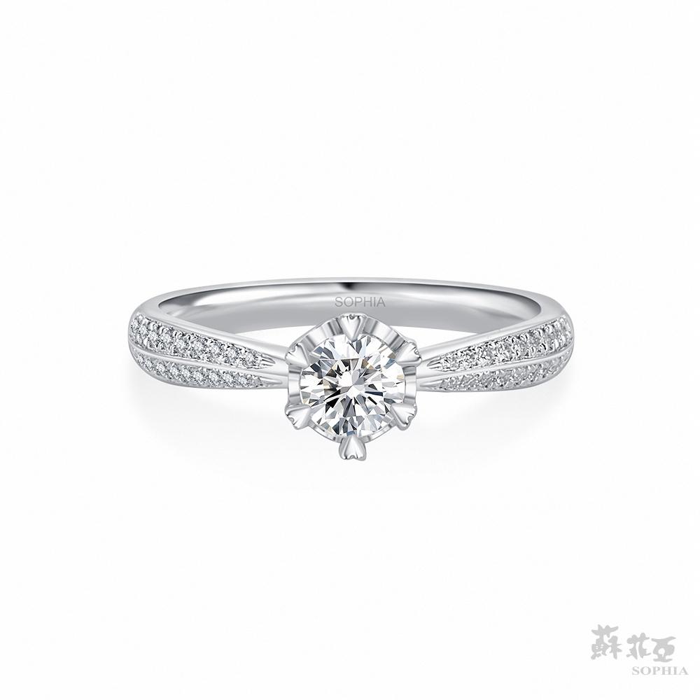 SOPHIA 蘇菲亞珠寶 - 相印 0.30克拉 18K白金 鑽石戒指