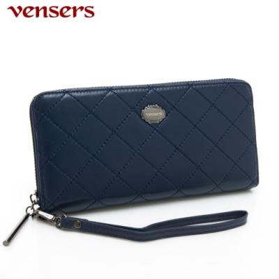 【vensers】小羊皮潮流皮夾~(TA0600702寶藍長夾)