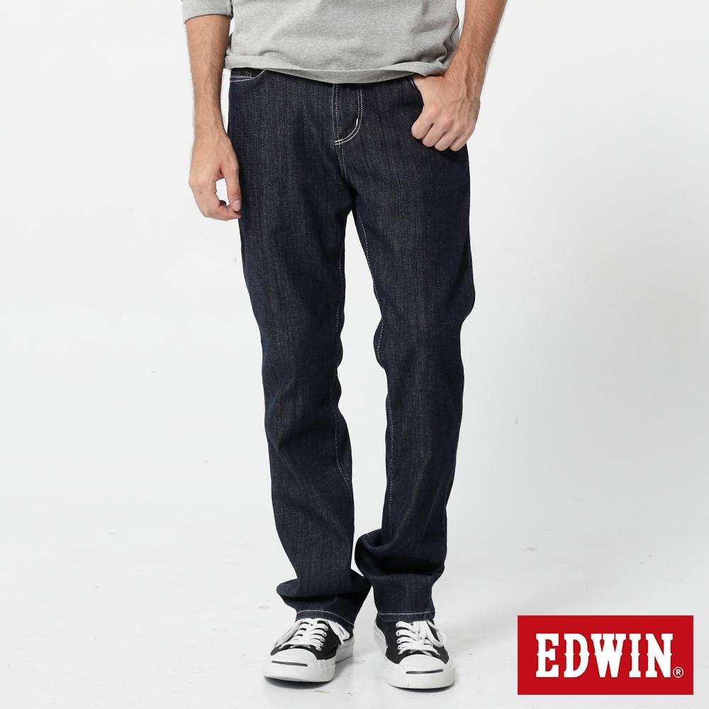 EDWIN 503 COOL RELAX 經典五袋式 中直筒牛仔褲-男-原藍色