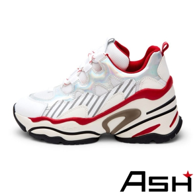 ASH-BANG BIS潮流休閒運動坡跟增高老爹鞋-白