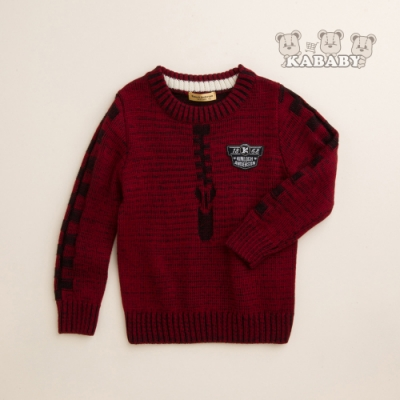 【金安德森】KA袖子配色圓領針織毛衣 (共二色)