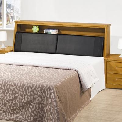 AS 亞伯實木雙人加大6尺床頭箱-183x30x100cm