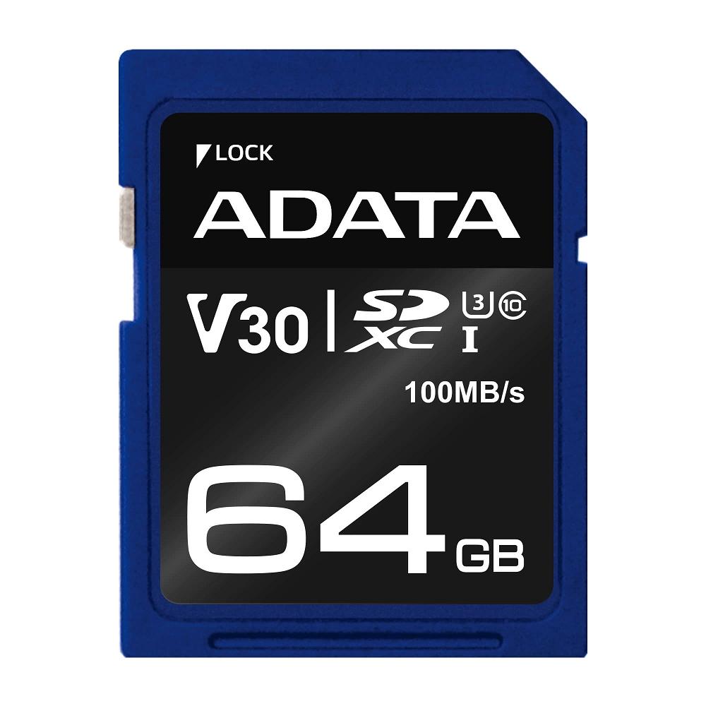 威剛 Premier Pro SDXC UHS-I U3( V30) 64G記憶卡