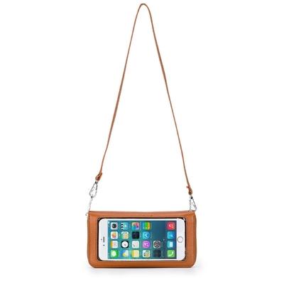 玩皮工坊-真皮頭層牛皮2WAY觸屏手機位女士皮夾錢包長夾女夾LH762