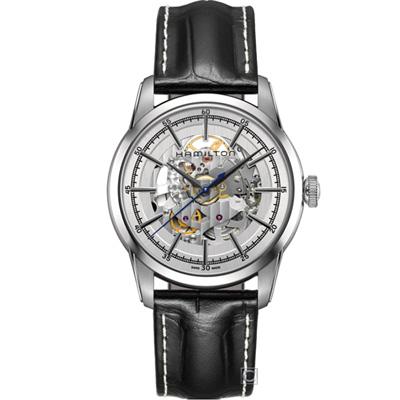 Hamilton 漢米爾頓 美國經典鐵路鏤空機械錶(H40655751)