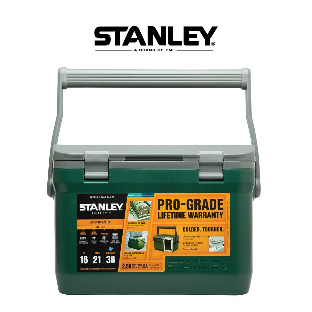 美國Stanley 可提式Cooler冰桶15.1L 綠色