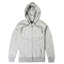 GAP 經典LOGO連帽外套(女)-灰色