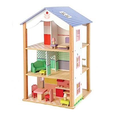 Tender Leaf Toys木製家家酒玩具-浪漫歐風別墅/娃娃屋