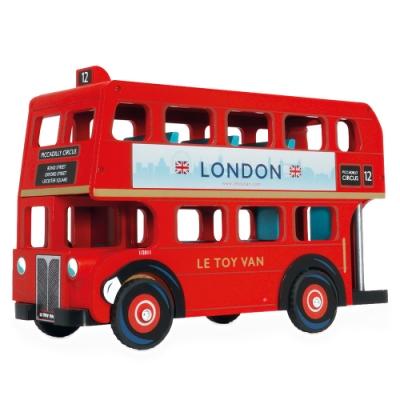 英國 Le Toy Van 車車與小小工程師系列-經典倫敦大巴士木質玩具組 (TV469)