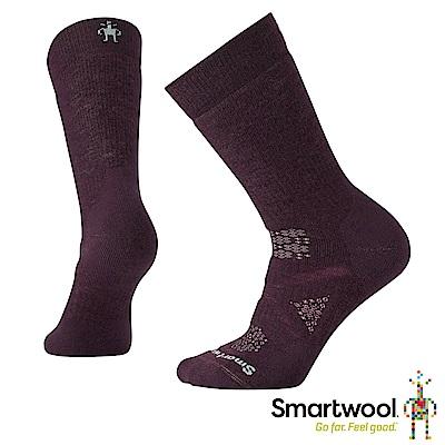 SmartWool 女 PhD北歐簡約中級減震中長襪 葡萄紫