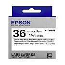 EPSON C53S657410 LK-7WBVN產業標籤帶耐久型(寬度36mm)白底黑字