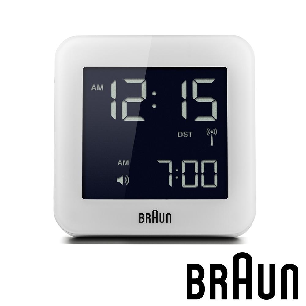 德國百靈 BRAUN 數位電子方形旅行鬧鐘 (BNC009WHWH)-質感白