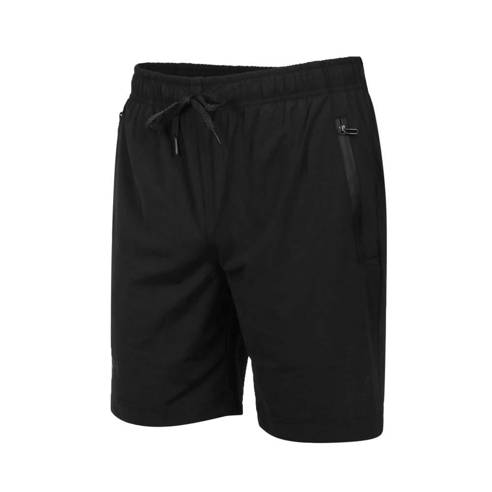 FIRESTAR 男彈性經編短褲-五分褲 慢跑 路跑 運動短褲 C0520-10 黑