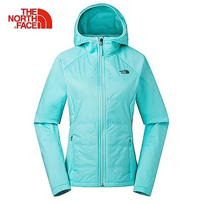 The North Face北面女款綠色無縫連帽外套 3L9AN2P