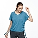 【HAKERS 哈克士】女 抗UV吸排V領抽繩上衣(洋藍) product thumbnail 1