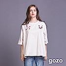 gozo 民族風花鳥刺繡七分袖上衣(二色)